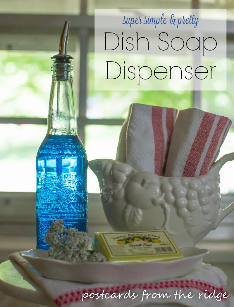 designer diy kitchen soap dispenser