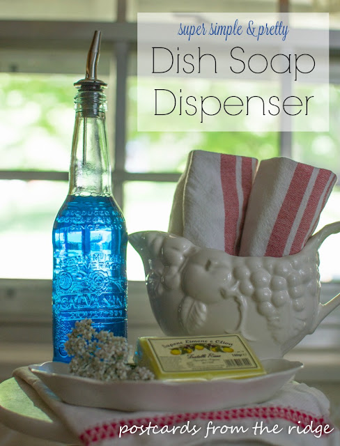 I can't believe how simple this DIY kitchen dish soap dispenser is. Why didn't I think of this before?
