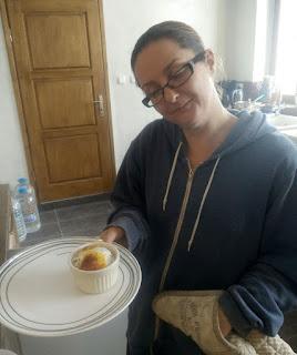 Baked ducks eggs for lunch
