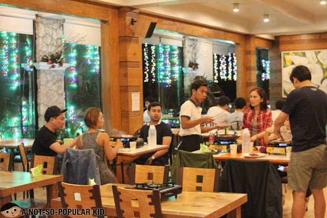 Interior of Korean Manor Buffet in Baguio
