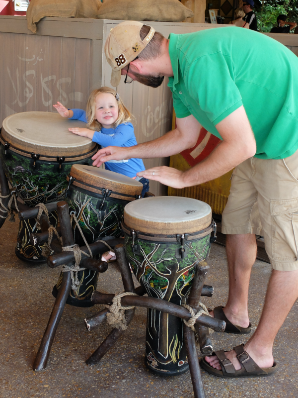 Walt Disney World, Epcot, Outpost drums