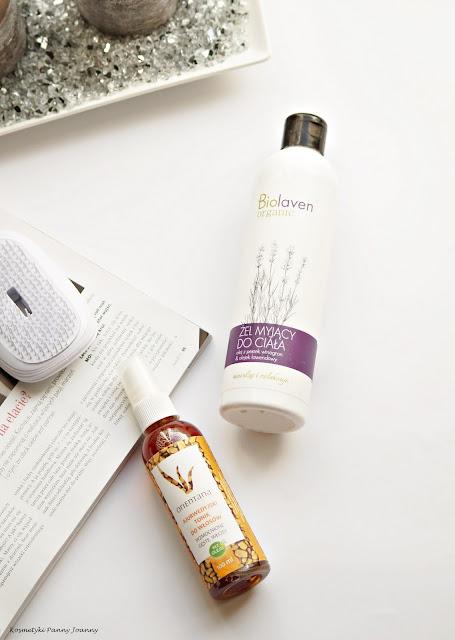 Naturalne kosmetyki pielęgnacyjne do włosów, Biolaven żel pod prysznic, wcierka Orientana, ajurwedyjski tonik do włosów