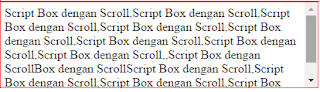 script box scroll