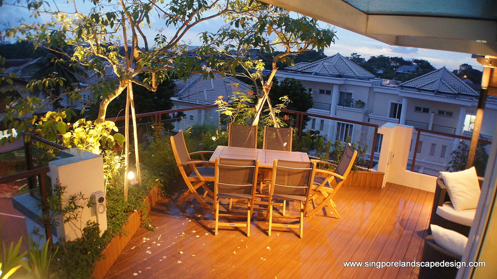 Singapore Landscape Design: Rooftop garden in-style1