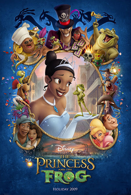Poster The Princess and the Frog 2009 Disney movie animatedfilmreviews.blogspot.com