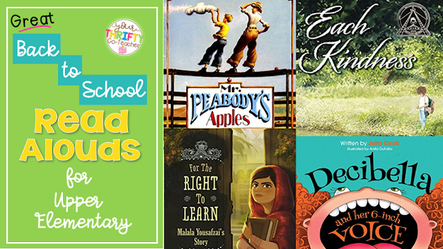 Back to school read alouds for upper elementary