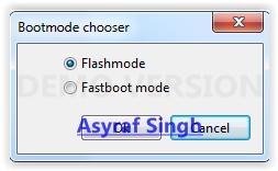 bootmode chooser flashtool xperia