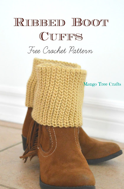Boot cuffs crochet pattern