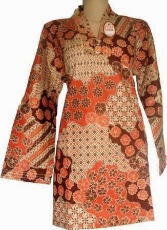 Desain Baju Muslim Batik Kerja Paling Populer 2015