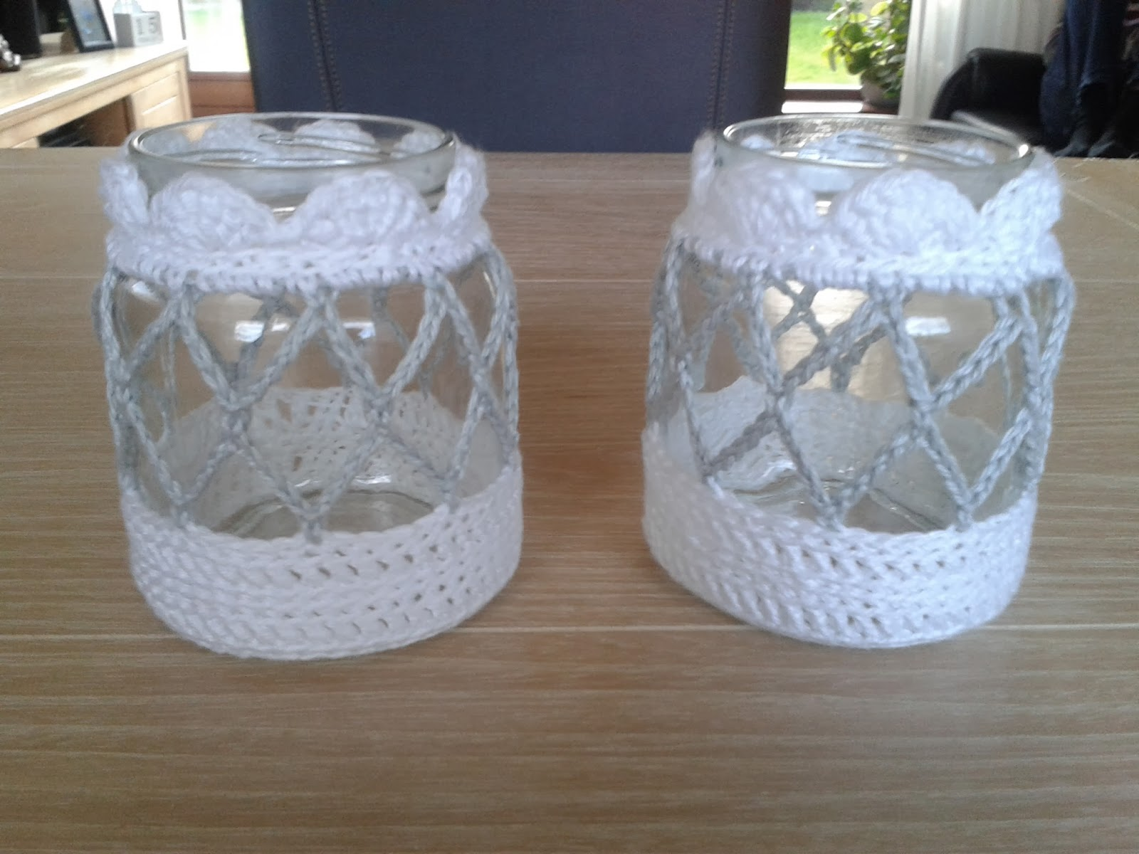 Theelicht Haken Potjes Haken Crochet Jars Haken Met Elisabeth