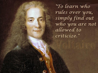Quote attibuted to Voltaire (actually from neo-Nazi Kevin Alfred Strom)