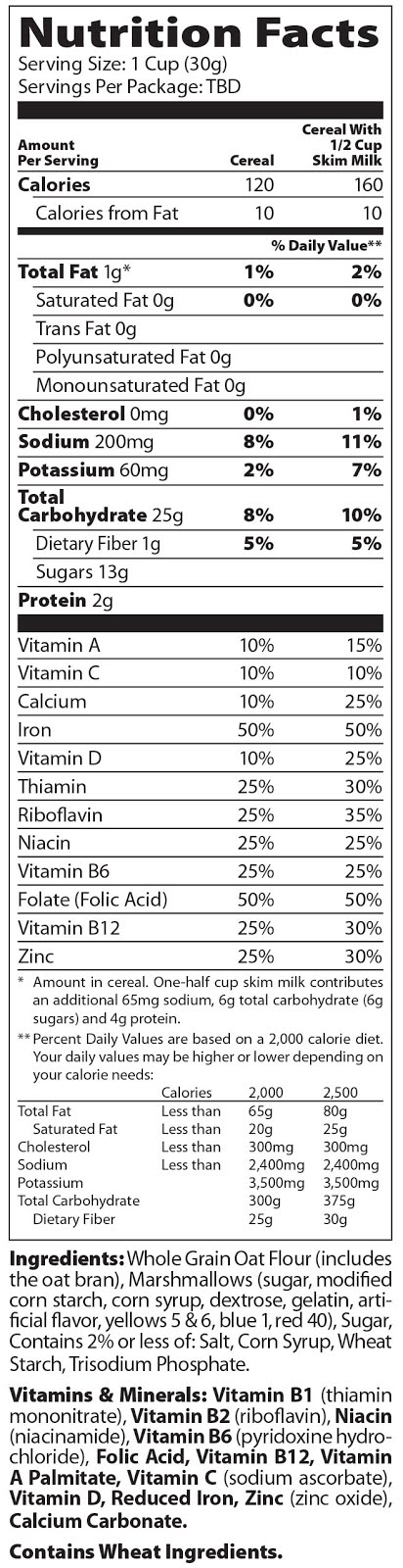 33 Lucky Charms Nutrition Facts Label Labels Database 2020