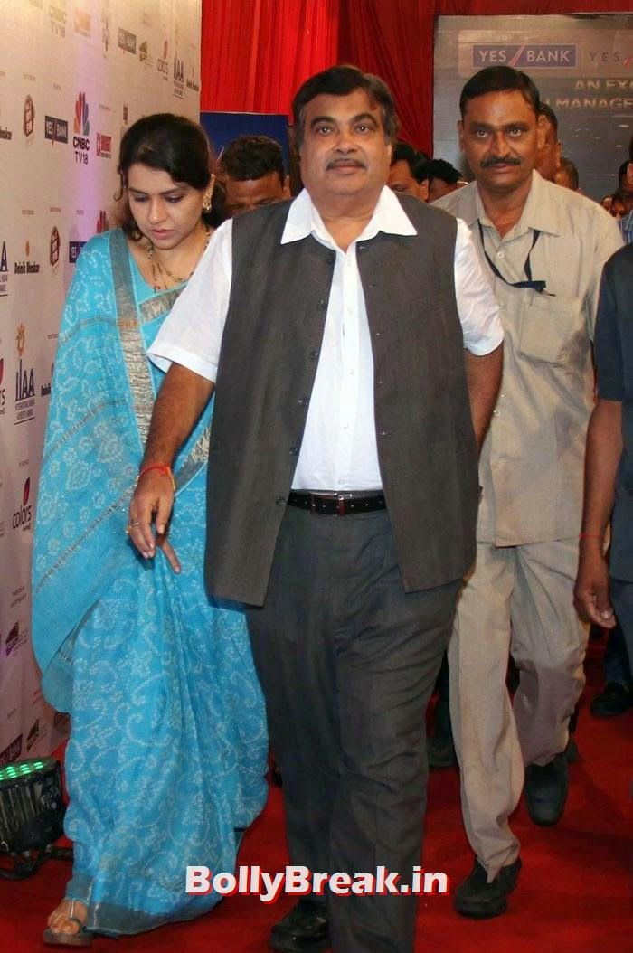 Shaina NC, Nitin Gadkari, International Indian Achiever's Awards Photo Gallery