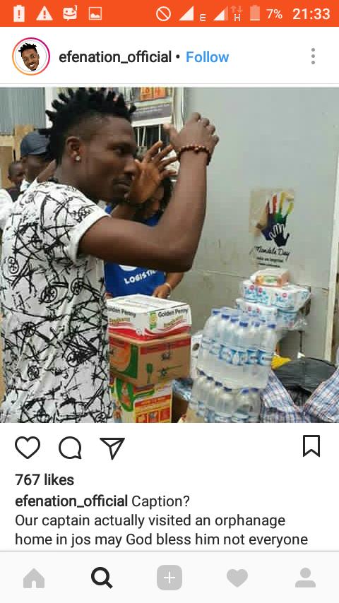 Nigerian Rapper Efe Visits Orphanage Home In Jos..