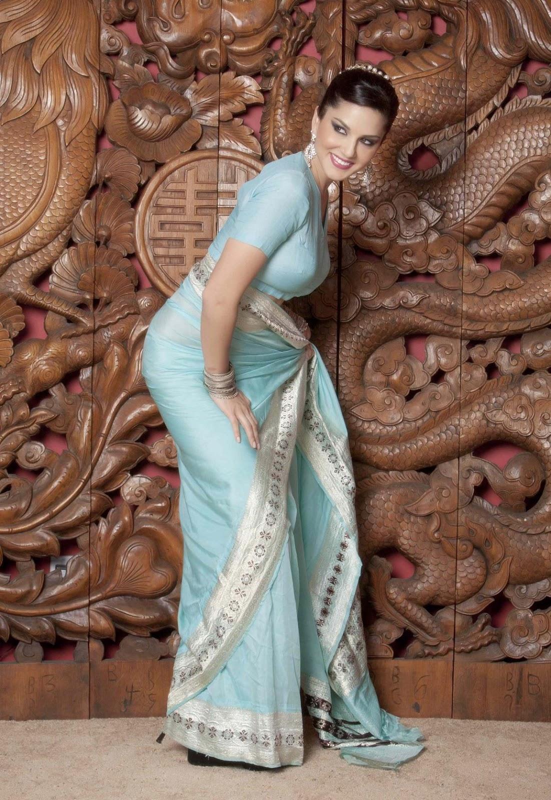 Saree Wali Girl Wallpaper Kashmira Shah Sunny Leone Looking Hot In Blue Saree