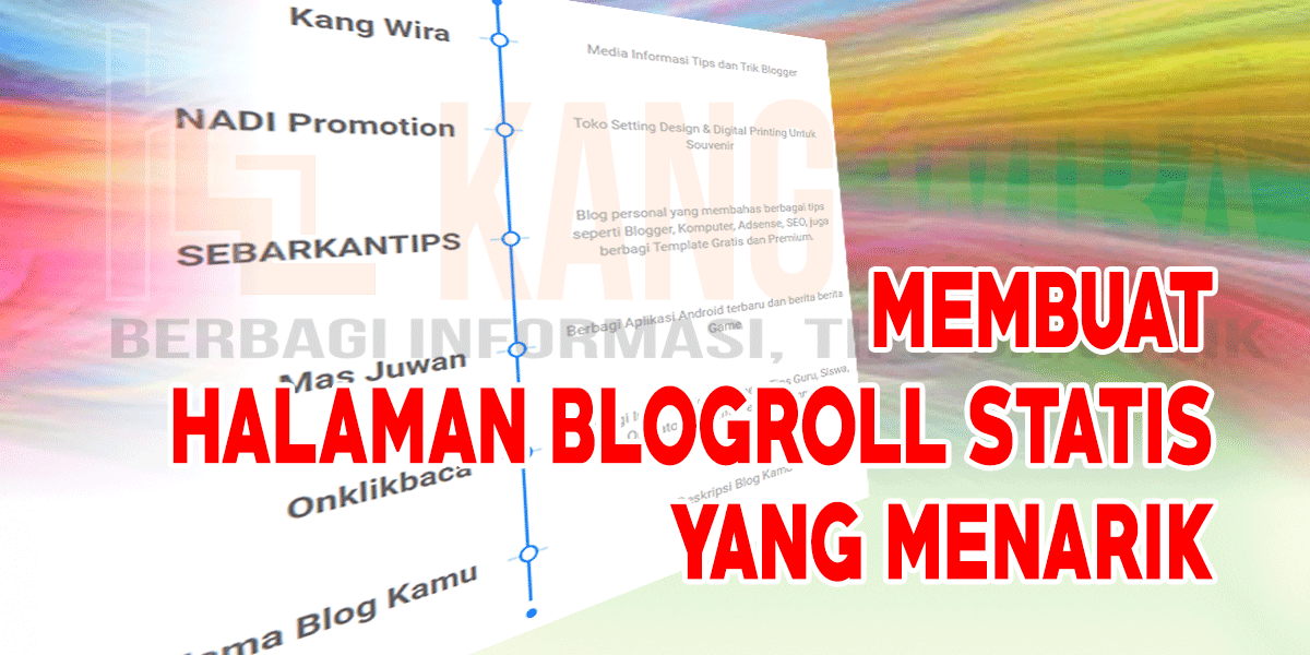 Membuat Halaman Blogroll Statis yang Menarik