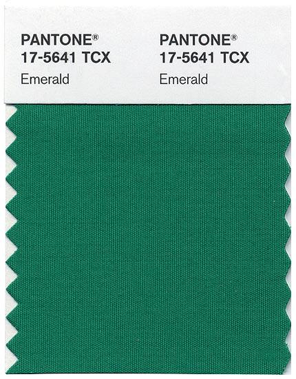 PANTONE 17-5641 EMERALD: Colour of 2013