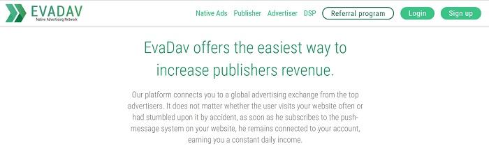 EvaDav Native Advertising Network