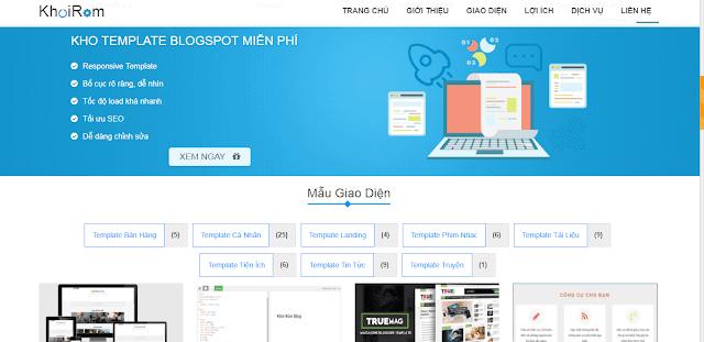 Template Khôi Ròm Blog v2.0 miễn phí