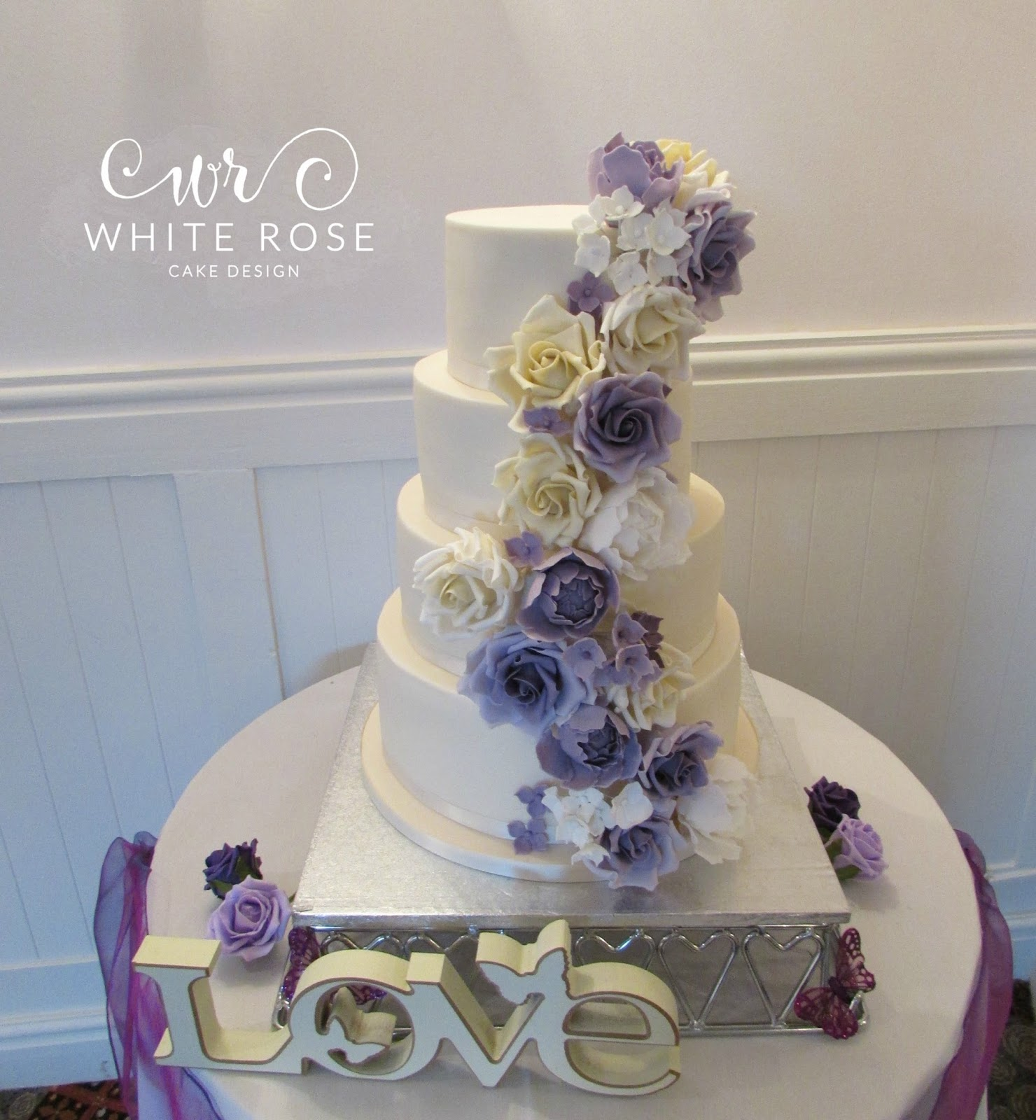 wedding cakes yorkshire area purples archives white cake design 26166