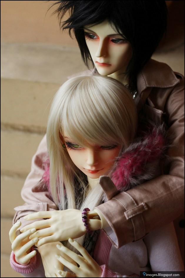 Doll Couple Hug Sad Cute Beautiful