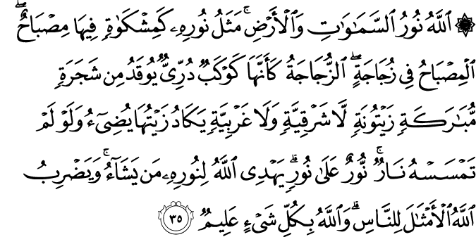 Surat An Nur ayat 35
