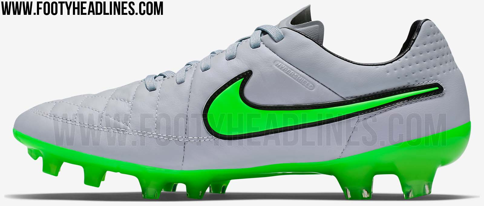 Silver / Green Nike Tiempo Legend V 2015-2016 Boots Released