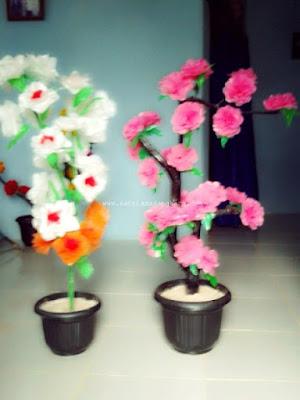 Contoh Gambar Bunga Dari Plastik Kresek
