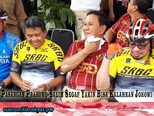 Pasangan Prabowo-Salim Segaf Yakin Bisa Kalahkan Jokowi