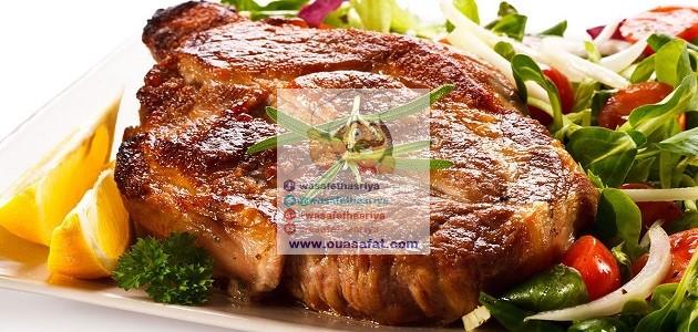 ستيك اللحم مشوي مع الأعشاب