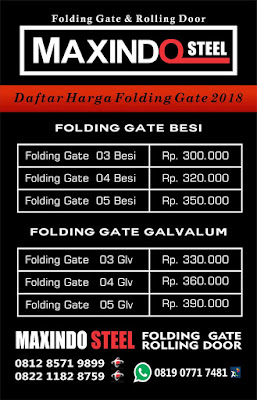 HARGA ROLLING DOOR FOLDING GATE