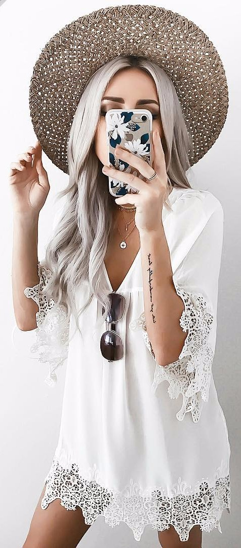 gypsy style perfection / white dress