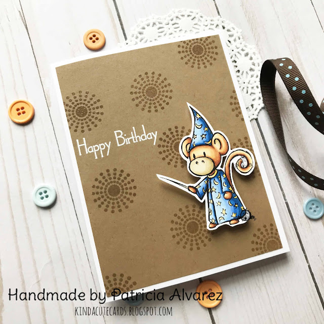 Happy birthday card for monkey lovers