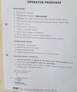 PT. Hexa Indonesia cikarang bekasi