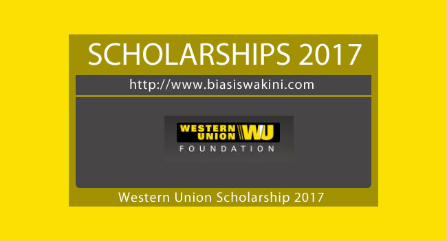 Western Union Scholarship 2017