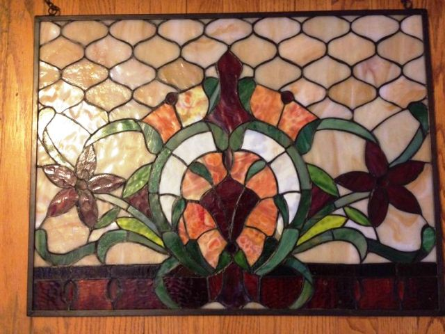 Stained GLASS WINDOW Hangings for Home