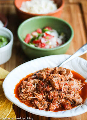 The BEST Slow Cooker Chicken Tacos from Food Bloggers found on SlowCookerFromScratch.com