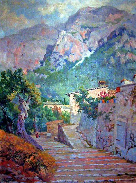 Antonio Ribas Prats, Pintor Español, Paisaje Mallorquín, Mallorca pintada, Paisajes de Mallorca, Mallorca en Pintura, Paisaje de Deià