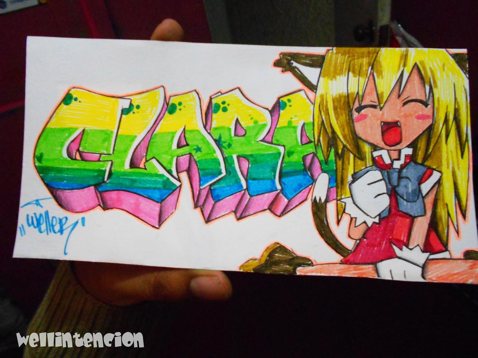 Drawer Clara Tu Nombre En Un Graffiti Wellintencion