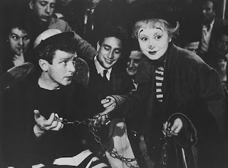 Gelsomina (played by Giulietta Masina) with the equilibrist Il Matto, La Strada, Directed by Federico Fellini