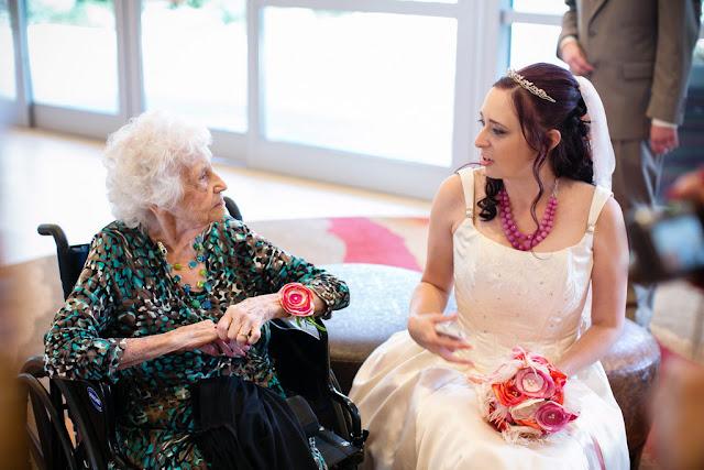 Bride with Grandmother - Disneyland Hotel Wedding