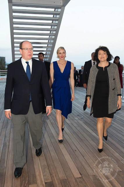 Princess Charlene wearing Dior dress 2016