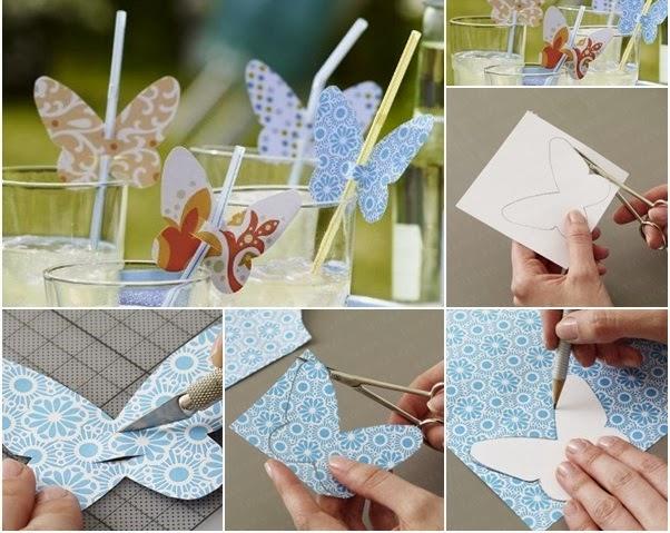 Decoración para mesa, manualidades DIY para decorar vasos en fiestas y celebraciones como poner nombres en boda
