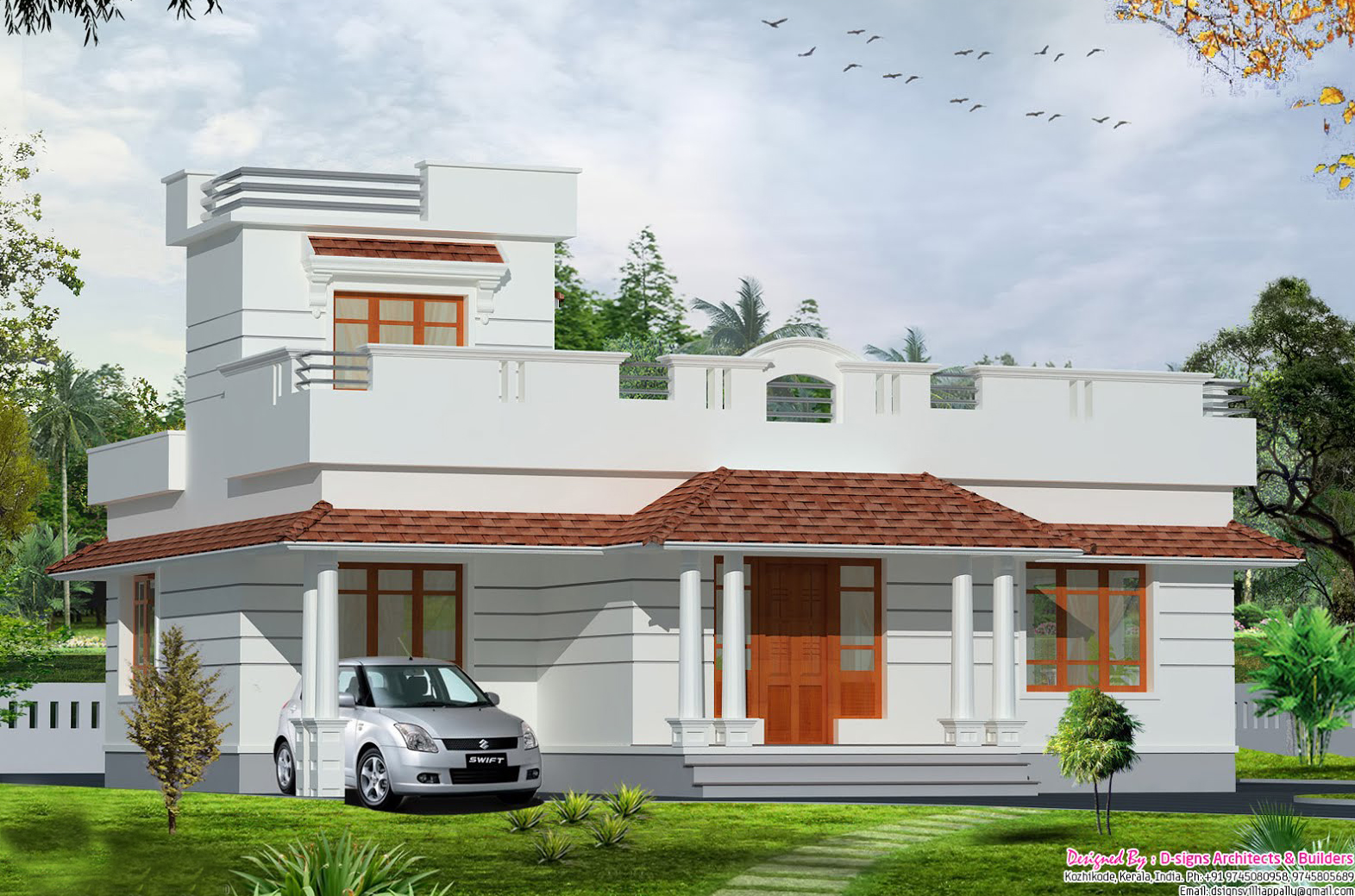 35 small and simple but beautiful house with roof deck for Home design beautiful