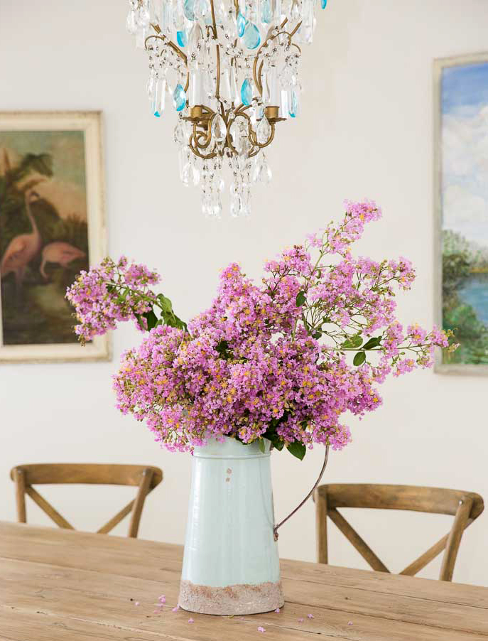 antique french chandelier and lilacs shabbyfufu beach home