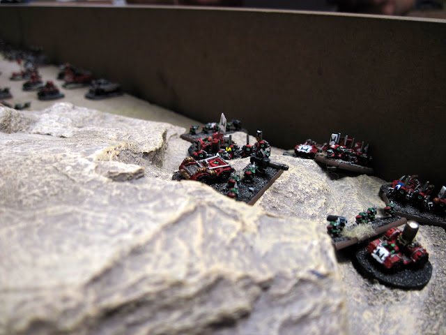 A warband prepare to make the mad dash across the plains.