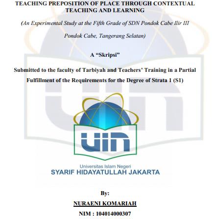Contoh Skripsi Quantitative Bahasa Inggris Contoh Soal Dan Materi Pelajaran 2