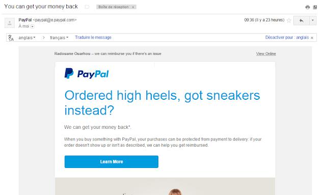 إطلاق خدمة إسترجاع الأموال على موقع PayPal