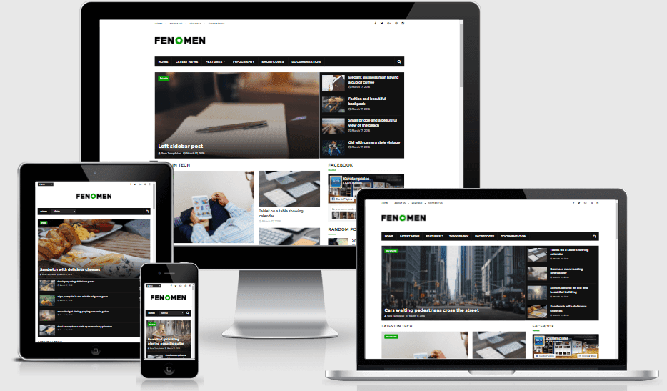 Fenomen - Responsive Latest Magazine Blogger Template