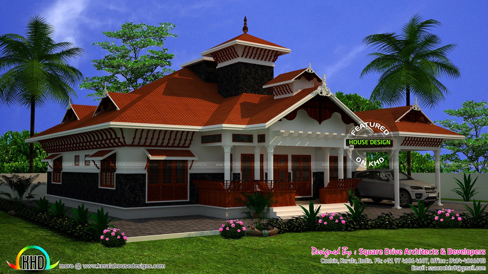 Awesome kerala home with interiors kerala home design for Traditional house plans kerala style